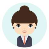 Woman Avatar with Smiling face. Female Cartoon Character. Businesswoman. Beautiful People Icon. Office Worker.